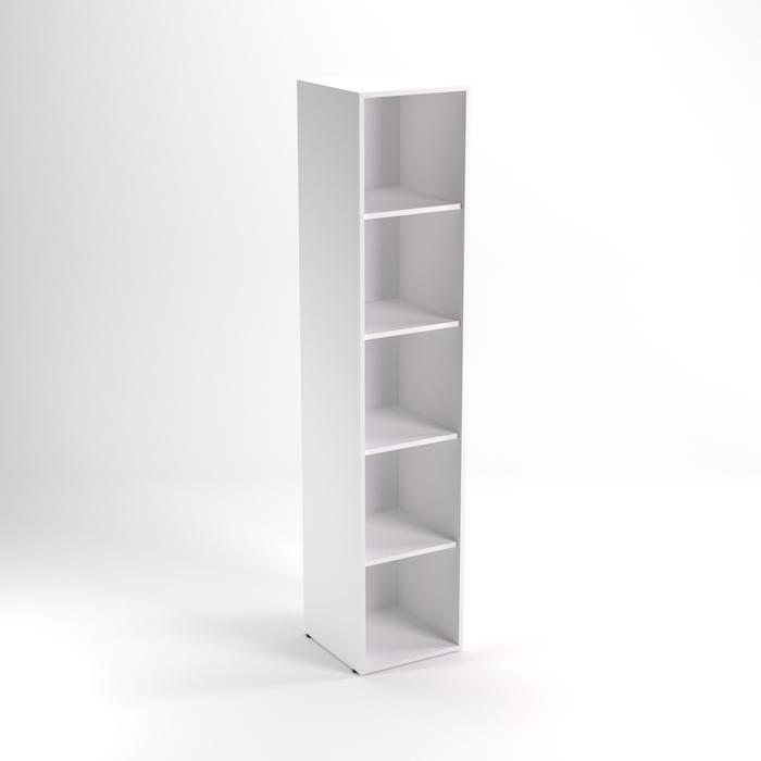 Шкаф стеллаж НШ-6, 383х380х1890 мм, белый шагр