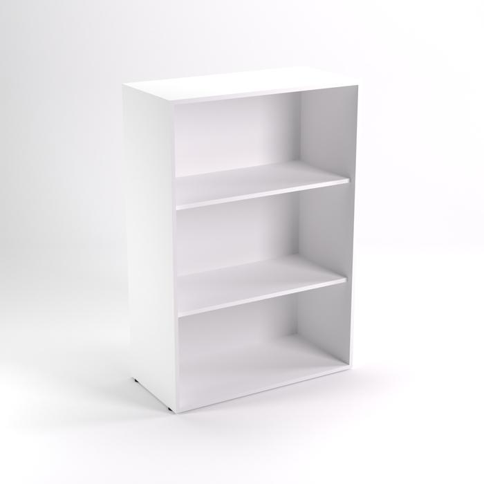 Шкаф стеллаж низкий НШт-4, 760х380х1153 мм, белый шагр