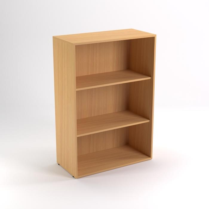 Шкаф стеллаж низкий НШт-4, 760х380х1153 мм, бук светлый