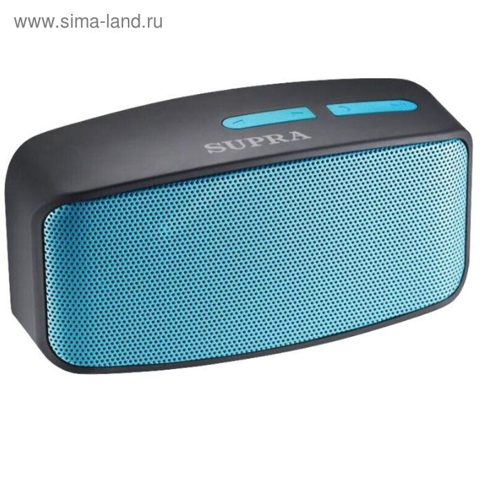 Аудиомагнитола Supra BTS-530, 3 Вт, MP3FM(dig), USB, BT, microSD, черная/голубая