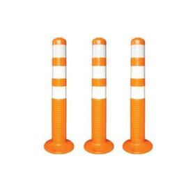 Столбик дорожный, парковочный, 80х750 мм, полиуретан, цвет оранжевый Ош