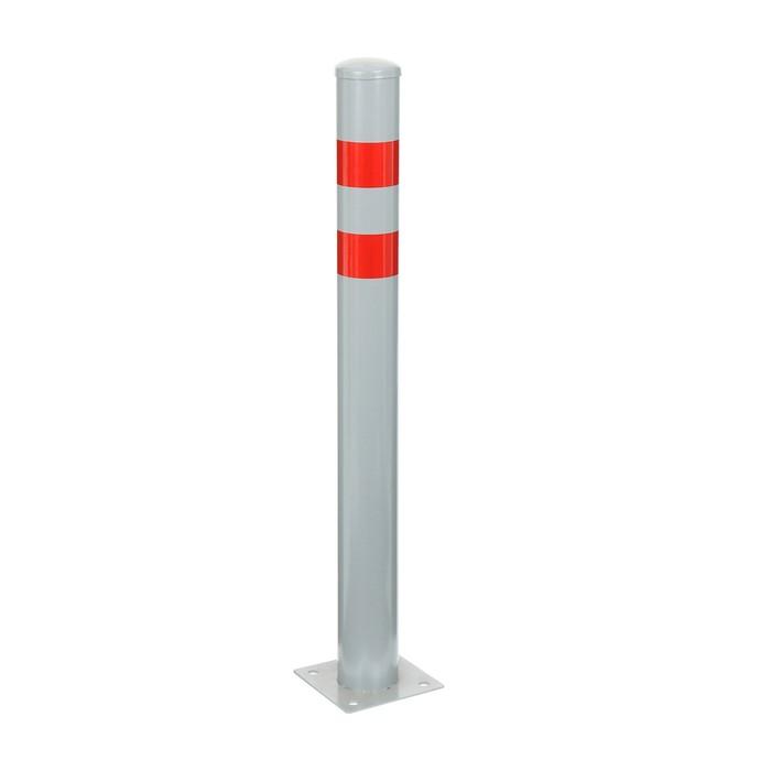 Столбик парковочный анкерный, 76*750 мм, цвет серый