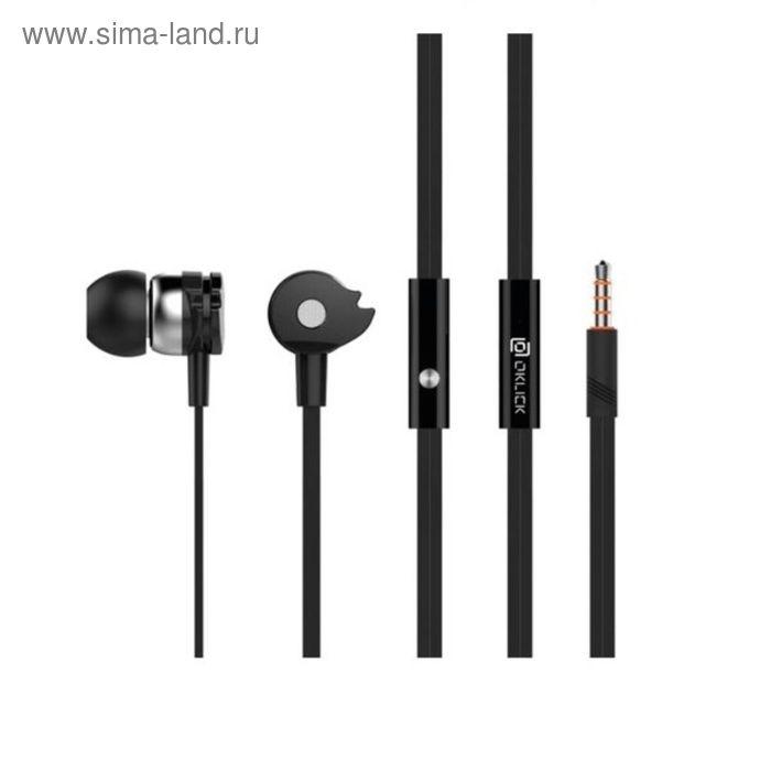 Наушники Oklick HP-S-210, вкладыши, в ушной раковине, провод 1.2 м, черные