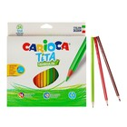 Карандаши пластиковые 24 цвета Carioca Tita, 3.0 мм, трёхгранные, картонная коробка