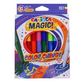 """Фломастеры 9 цветов Carioca """"Magic"""" +1 перекрашивающий, 6.0 мм,  картон, европодвес"""
