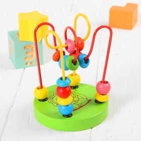 Игрушка из дерева для детей. Серпантинка 'Лев', 2 завитка Ош