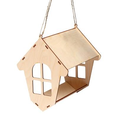 Кормушка для птиц «Избушка», 20 × 18 × 21 см, Greengo - Фото 1