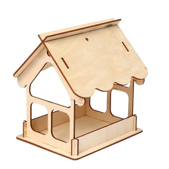 Кормушка для птиц «Домик», 21 × 18 × 21 см