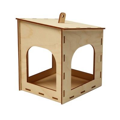 Кормушка для птиц «Домик малый», 15 × 14 × 17 см - Фото 1