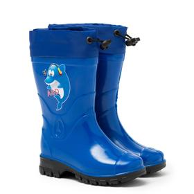 Сапоги детские, цвет синий, размер 28 Ош