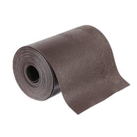 Лента бордюрная, 0.2 × 10 м, толщина 1.2 мм, пластиковая, коричневая, Greengo Ош