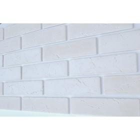 Гипсовая плитка 'КЛАССИК' 1 кв.м. (66шт в наборе) белая, 220х55 мм Ош