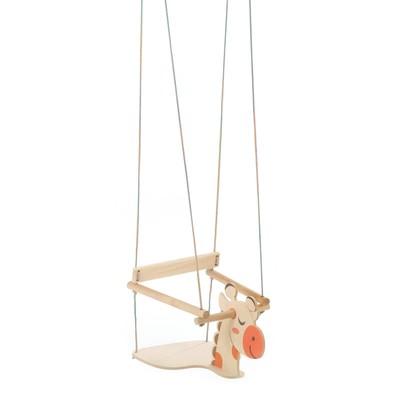 """Качели детские подвесные """"Жираф"""", деревянные, сиденье 30×30см - Фото 1"""