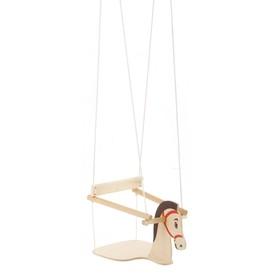 """Качели детские подвесные """"Конь"""", деревянные, сиденье 30×30см"""