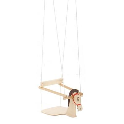 """Качели детские подвесные """"Конь"""", деревянные, сиденье 30×30см - Фото 1"""