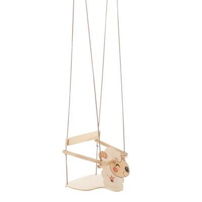 """Качели детские подвесные """"Барашек"""", деревянные, сиденье 30×30см - Фото 1"""