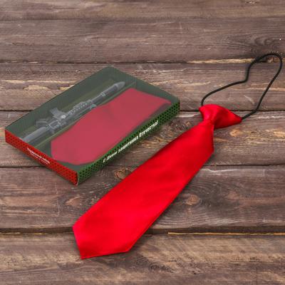"""Подарочный набор: детский галстук и ручка-пистолет """"С Днём защитника Отечества"""""""