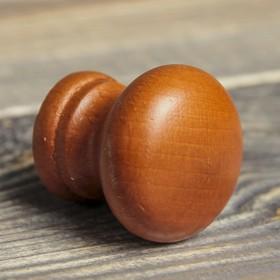 Ручка мебельная кнопка 'Фигурная', крашеная, цвет итальянский орех, d-35, L-30 мм Ош