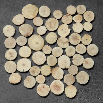 """Спил """"Дубовый"""", круглый, d=3-4 см, h=3,5 мм - Фото 1"""