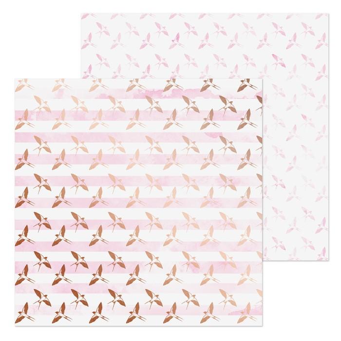 Бумага для скрапбукинга «Птички», 20 × 20 см, 180 г/м