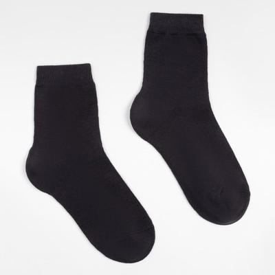 Носки детские, цвет тёмно-серый, размер 16-18
