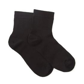 Носки женские ФС02, цвет чёрный, размер 23-25