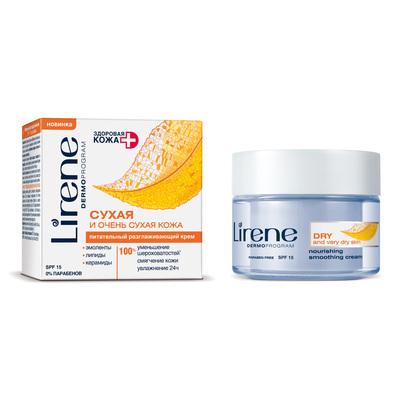 Крем для лица Lirene Здоровая кожа «Питательный», для сухой кожи, 50 мл