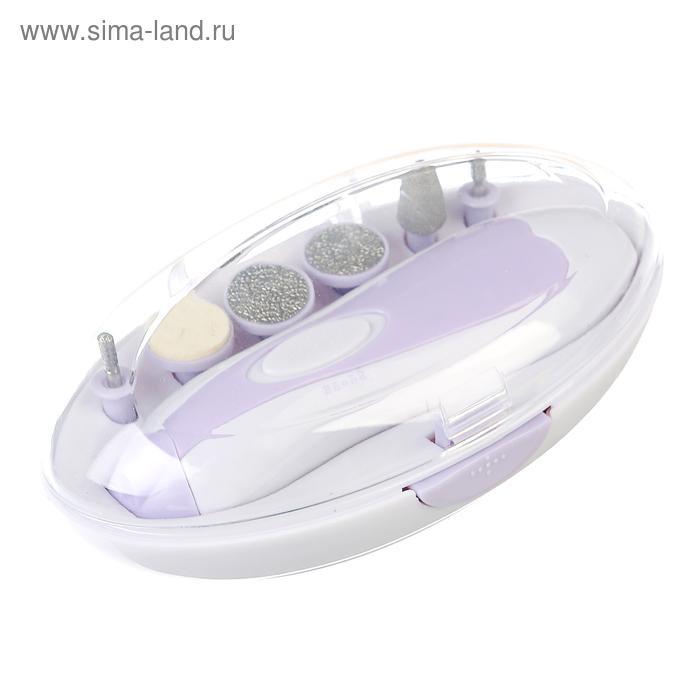 Маникюрный набор Irit IR-3097, 6 насадок, 2xАА (не в комплекте), фиолетовый
