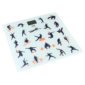 Весы напольные Irit IR-7261, электронные, до 180 кг, рисунок 'виды спорта' Ош