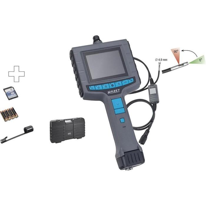 Видеоэндоскоп HAZET 4812-10/4S, зонд 1 м, SD-карта, d камеры 4.9 мм, обзор 56°, 4АА, кейс