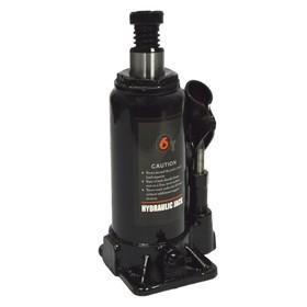 Домкрат бутылочный WIEDERKRAFT WDK-81060, гидравлический, 6 т,  высота 183-360 мм, черный