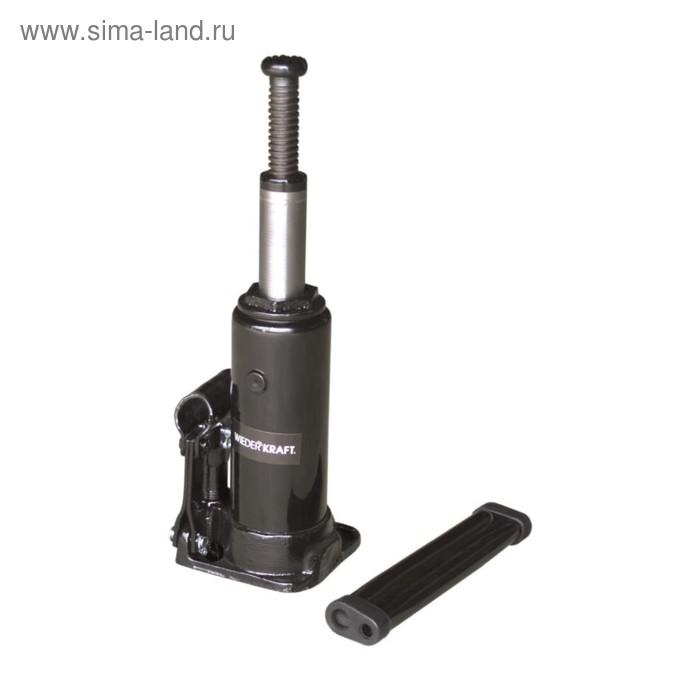 Домкрат бутылочный WIEDERKRAFT WDK-81030, гидравлический, 3 т, 194 мм, ход штока 118 мм