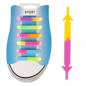Резиновые шнурки, набор 6 шт., светоотражающие, цвета МИКС Ош