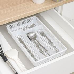 купить Лоток для столовых приборов Darel plastic, цвет мрамор