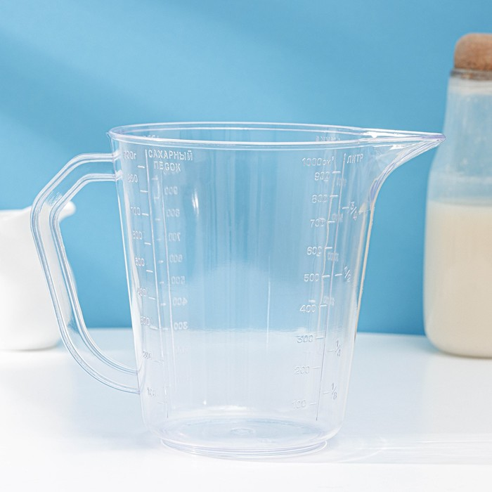 Мерная кружка, 1 л, цвет прозрачный