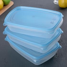 Набор контейнеров Darel plastic «Трио», 3 шт, 1,3 л, цвет МИКС
