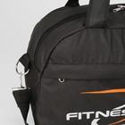 Сумка спортивная, отдел на молнии, наружный карман, цвет чёрный - Фото 4