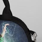 Сумка спортивная, отдел на молнии, длинный ремень, наружный карман, цвет чёрный - Фото 4