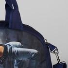 Сумка спортивная, отдел на молнии, наружный карман, цвет синий - Фото 4