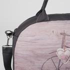 Сумка спортивная, отдел на молнии, наружный карман, длинный ремень, цвет серый/разноцветный - Фото 4
