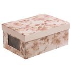 Складная коробка с PVC окошком «Нежные краски», 34 × 23 × 15 см