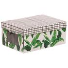Складная коробка с PVC окошком «Тропики», 34 × 23 × 15 см