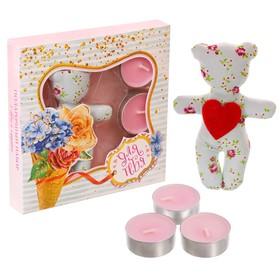 Подарочный набор игрушка и свечи плавающие «Для тебя», 15 х 15 см Ош