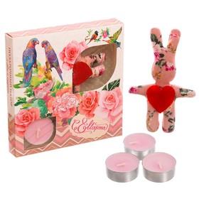 Набор игрушка и 3 свечи 'С 8 марта' Ош