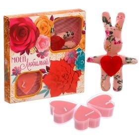 Набор игрушка и 3 свечи 'Моей любимой' Ош
