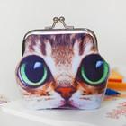 Кошелёк «Котик», большие зелёные глазки