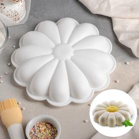 Форма для муссовых десертов и выпечки Доляна «Ромашка», 22×5 см, цвет белый
