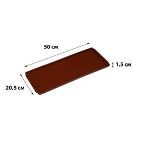 Поддон для рассады, 50 × 20,5 × 1,5 см, цвет МИКС Ош