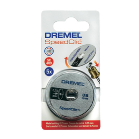 Диски отрезные по пластмассе Dremel 2615S409JB, 5 шт, 38 х 0,75 мм