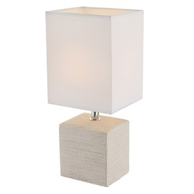 Настольная лампа GERI 1x40Вт E14 бежевый 13x11x29см